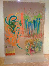 Malaktion Tag der offenen Tür der Kreativpraxis-Berlin