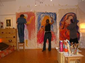 Kreativworkshop - Kunsttherapie: Malen eines lebensgroßen Selbstbildes
