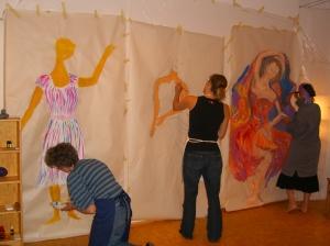 Kreativworkshop in der Kreativpraxis-Berlin von © Regina Liedtke / Kunsttherapeutin