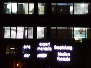 Videoprojektion Medienfassade
